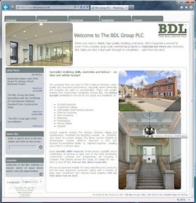 Based on an Ektron content management system, the BDL website presents details of the building contract services on offer, it showcases current and previous projects, and it provides a portal for attracting new contracts – and contractors.