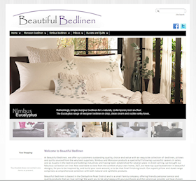 BeautifulBedlinen.co.uk uses WyeTec's proprietary e-commerce system to offer a range of high quality bed linen for sale on-line.  High quality professional photography adds an overall feel of quality and luxury to the site.
