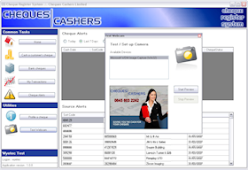 "The ""Cheques Register System"" client application manages the business process of cashing client cheques – recording transaction details, managing customer identification, and warning agents of potentially risky transactions."
